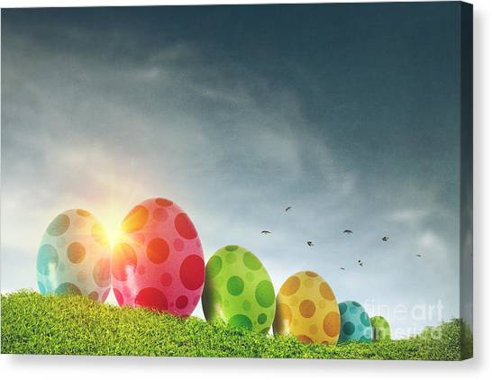 Easter Eggs Canvas Print - Easter Eggs by Carlos Caetano