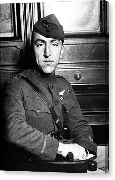 Air Force Canvas Print - Eddie Rickenbacker by War Is Hell Store