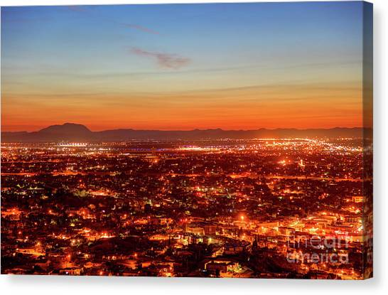 El Paso, Texas Canvas Print by Denis Tangney Jr