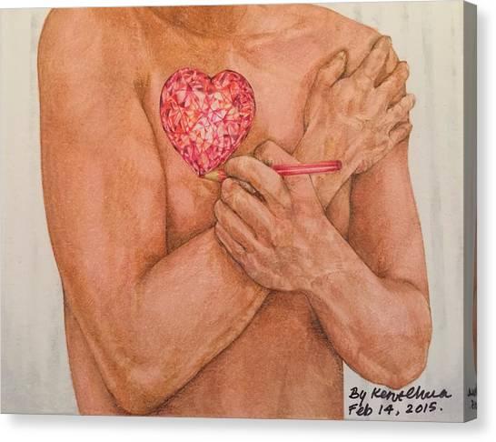 Iphone 6 Plus Canvas Print - Embrace Love by Kent Chua