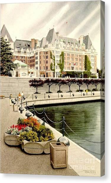 Empress Hotel Canvas Print