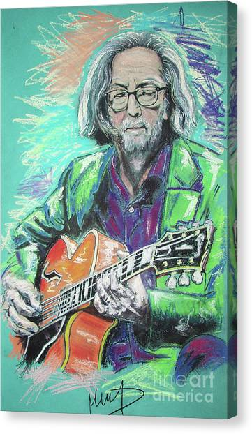 Eric Clapton Canvas Print - Eric Clapton by Melanie D