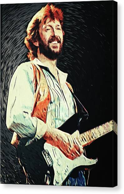 Eric Clapton Canvas Print - Eric Clapton by Zapista