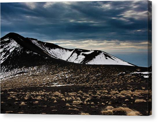 Etna, Red Mount Crater Canvas Print