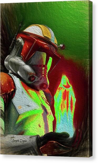 Leia Organa Canvas Print - Execute Order 66 - Free Style by Leonardo Digenio