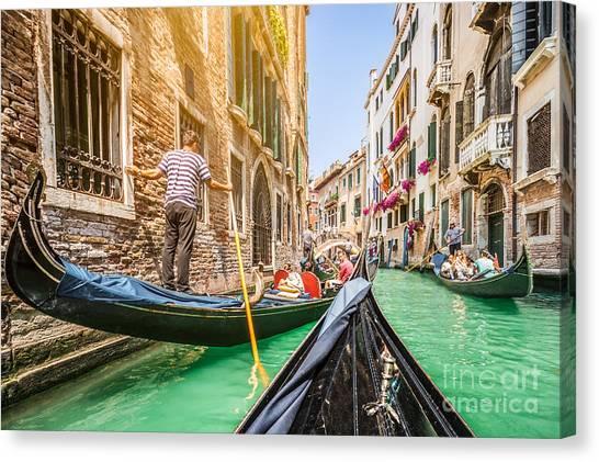 Exploring Venice Canvas Print