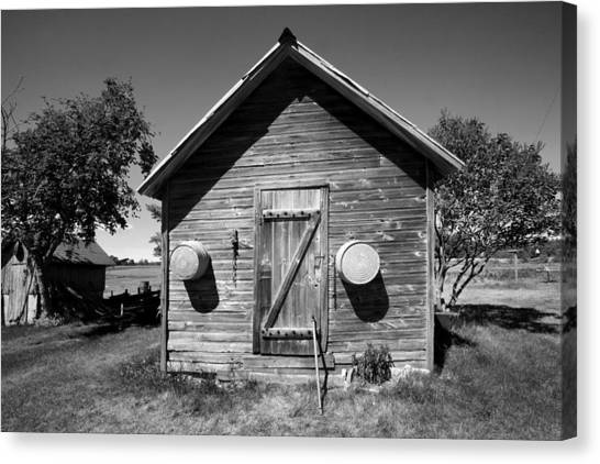 2 Eyed Shed Canvas Print by Stephen Mack