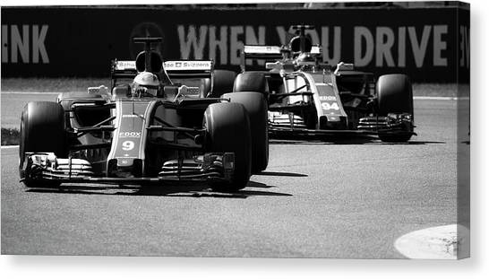 Romain grosjean canvas print f by srdjan petrovic