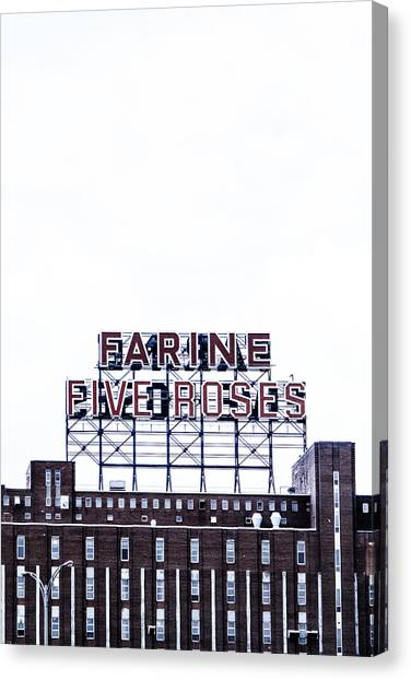 Quebec City Canvas Print - Farine Five Roses by Tanya Harrison
