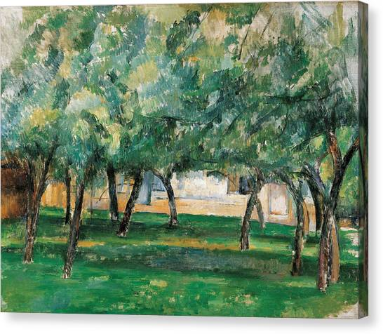 Post-impressionism Canvas Print - Farm In Normandy  by Paul Cezanne