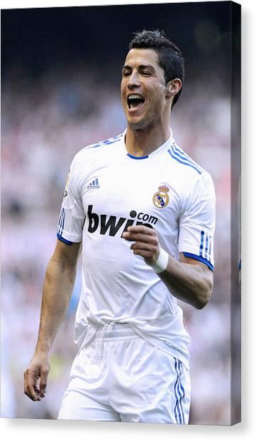 Cristiano Ronaldo Canvas Print - Cristiano Ronaldo 21 by Rafa Rivas