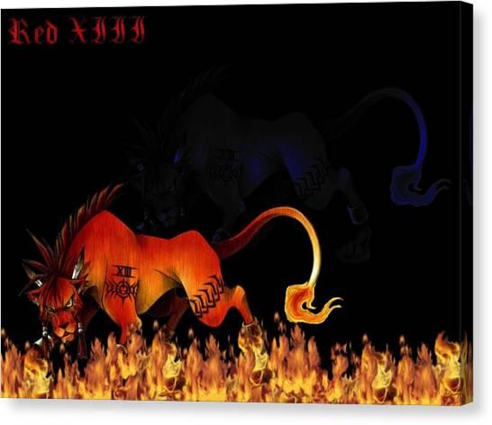 Final Fantasy Canvas Print - Final Fantasy Vii by Mery Moon