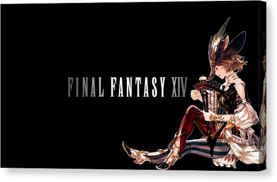 Final Fantasy Canvas Print - Final Fantasy Xiv by Super Lovely