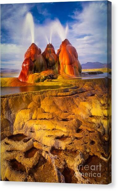 Black Rock Desert Canvas Print - Fly Geyser by Inge Johnsson