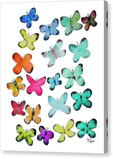 Butterflies Canvas Print - For A Friend by Roleen Senic