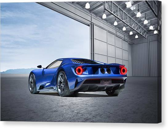 Touring Canvas Print - Ford Gt by Peter Chilelli