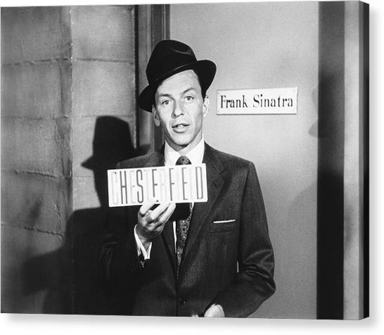 Placard Canvas Print - Frank Sinatra by Underwood Archives