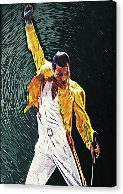 Led Zeppelin Canvas Print - Freddie Mercury by Taylan Apukovska
