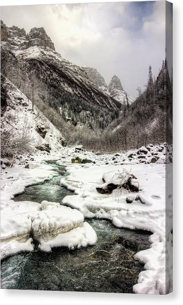 Freeze-up At Dan Creek Canvas Print