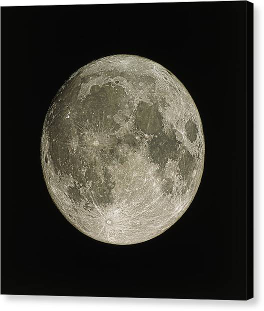 Satellite Canvas Print - Full Moon by Eckhard Slawik