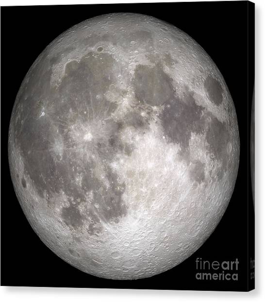 Satellite Canvas Print - Full Moon by Stocktrek Images