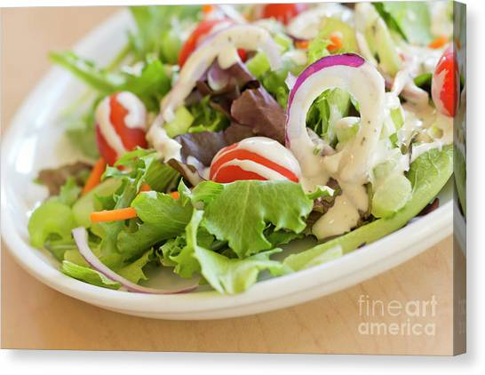 Ranch Dressing Canvas Print - Garden Salad Ranch by Ezume Images