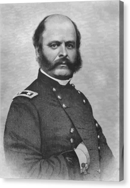 Us Civil War Canvas Print - General Burnside by War Is Hell Store