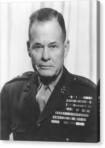 Patriot Canvas Print - General Lewis Chesty Puller by War Is Hell Store