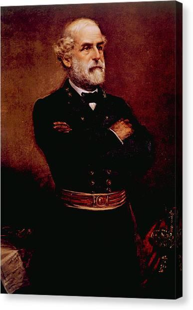 Jt History Canvas Print - General Robert E. Lee 1807-1870 by Everett