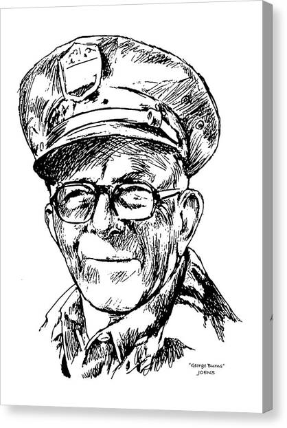 God Canvas Print - George Burns by Greg Joens
