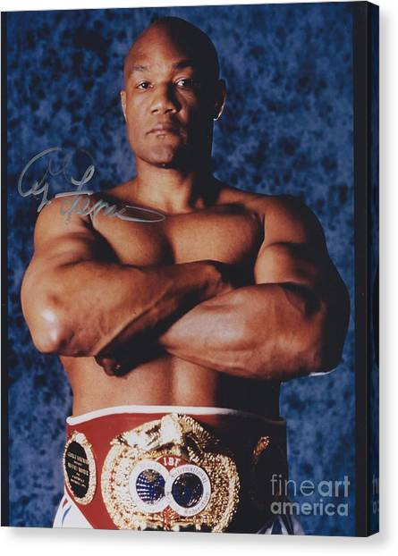 George Foreman Canvas Print - George Foreman 3 by Dennis ONeil