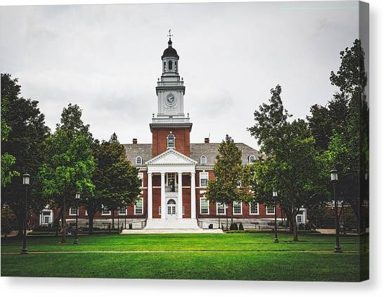Johns Hopkins University Canvas Print - Gilman Hall - Johns Hopkins University by Library Of Congress
