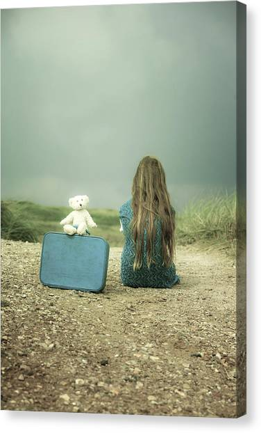 Girl Canvas Print - Girl In The Dunes by Joana Kruse