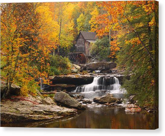 Glade Creek Grist Mill - Fall Canvas Print