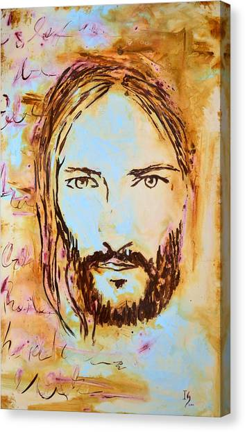 Messiah Canvas Print - God Loves You by Ivan Guaderrama