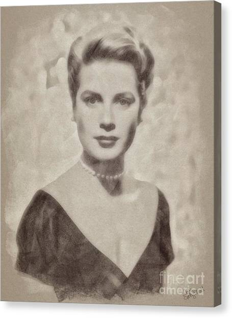 Grace Kelly Canvas Print - Grace Kelly, Actress And Princess by John Springfield