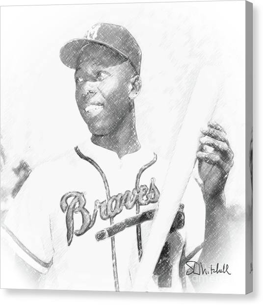 Hank Aaron Canvas Print