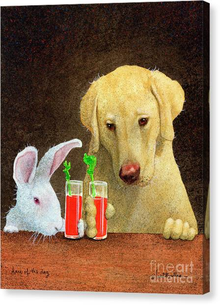 Hare Of The Dog... Canvas Print