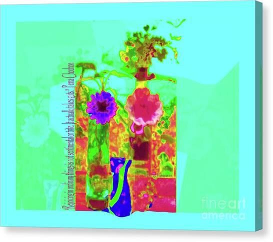 Hearts 'n Flowers-fauve Canvas Print