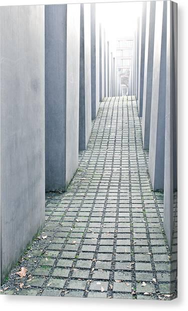 Holocaust Museum Canvas Print - Holocaust Memorial by Tom Gowanlock