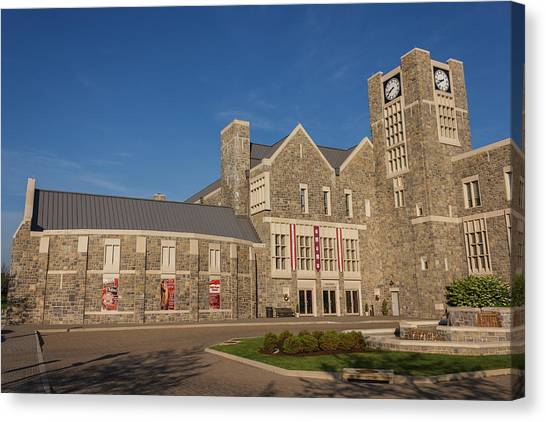Virginia Polytechnic Institute And State University Virginia Tech Canvas Print - Holtzman Alumni Center At Virginia Tech by Bryan Pollard
