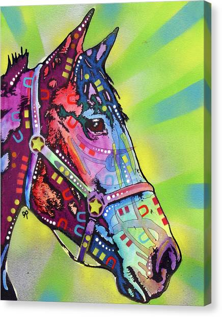Horses Canvas Print - Horse by Dean Russo Art