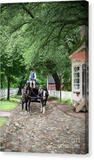 Horse Drawn Wagon Canvas Print
