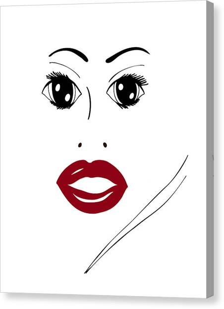 Illustration Of A Woman In Fashion Canvas Print by Frank Tschakert