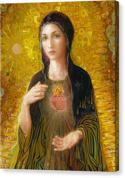 Mary Canvas Print - Immaculate Heart Of Mary by Smith Catholic Art
