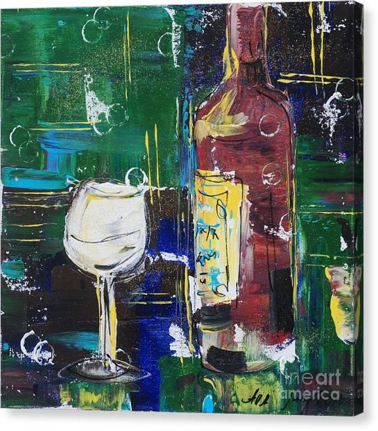 In Vino Veritas. Wine Collection 12 Canvas Print