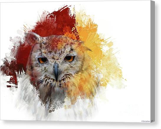 Indian Eagle-owl Canvas Print