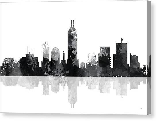 Indiana Indianapolis Skyline Canvas Print
