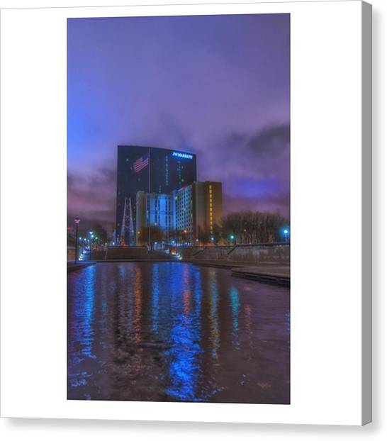 Downtown Canvas Print - #indiana #indy #indianapolis #nap Town by David Haskett II