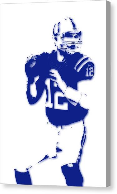 Indianapolis Colts Canvas Print - Indianapolis Colts Andrew Luck by Joe Hamilton